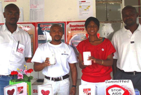 Redpath South Africa employees participate in World Aids Awareness Day.