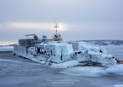 Redpath transport in the arctic.