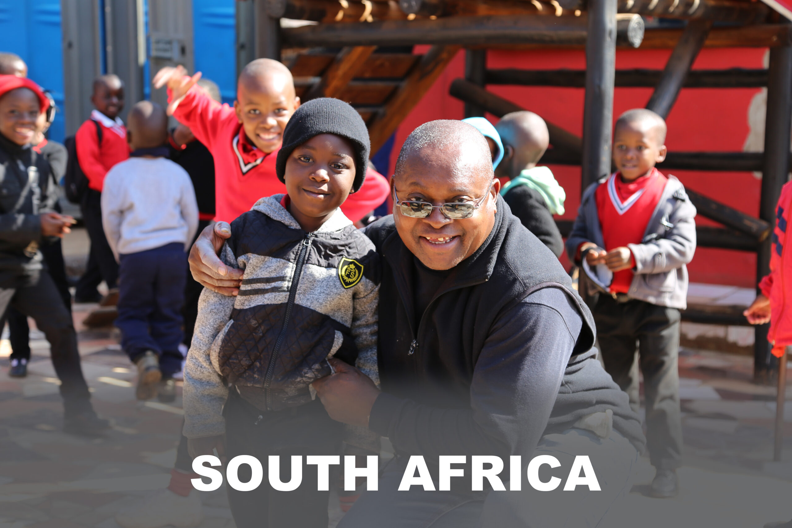 A Redpath driver poses with a Mvelaphanda learner.